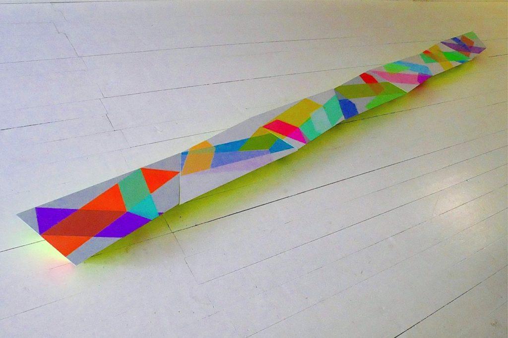 Airstrips II, 2019, 440 x 27 x 7 cm. Photo Lon Godin.