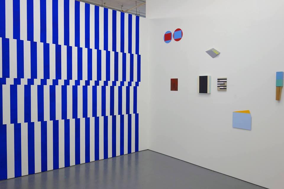 Doppler, Parallel Art Space, New York. Installation view: Gilbert Hsiao, Patricia Zerrate, Henriëtte van 't Hoog, Nancy White, Don Voisine, José Heerkens, Brent Hallard, Kevin Finklea.