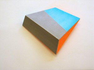 Wedge (multiple) I, 2015, 32x25x12 cm, paint on wood